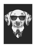 Portrait of Dalmatian Dog in Suit. Hand Drawn Illustration. Plakater af  victoria_novak
