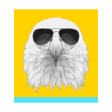 Portrait of Eagle with Sunglasses. Hand Drawn Illustration. Prints by  victoria_novak