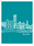 Skyline Miami 4 Posters by Brooke Witt
