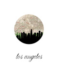 Los Angeles Map Skyline Art