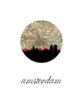 Amsterdam Map Skyline Posters