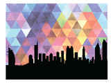Dubai Triangle Poster