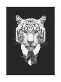 Portrait of Tiger in Suit. Hand Drawn Illustration. Prints by  victoria_novak