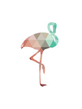 Mint Coral Flamingo Posters by Melinda Wood