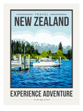 Travel Poster Newzealand Posters af Brooke Witt