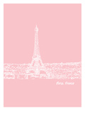 Skyline Paris 9 Posters by Brooke Witt