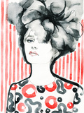 Woman Portrait .Abstract Watercolor .Fashion Background Prints by Anna Ismagilova