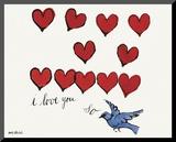 I Love You So, c. 1958 Affiche montée sur bois par Andy Warhol