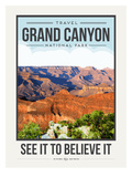 Travel Poster Grand Canyon Prints by Brooke Witt