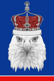Portrait of Eagle with Crown. Hand Drawn Illustration. 高品質プリント :  victoria_novak