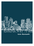Skyline Boston 3 Art by Brooke Witt