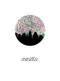 Austin Map Skyline Prints
