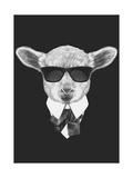Portrait of Lamb in Suit. Hand Drawn Illustration. Prints by  victoria_novak