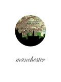 Manchester Map Skyline Reprodukcje
