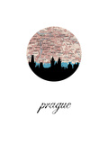 Prague Map Skyline Art