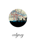 Calgary Map Skyline Print