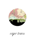 Cape Town Map Skyline Arte