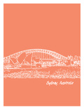 Skyline Sydney 8 Posters by Brooke Witt