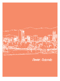 Skyline Denver 8 Print by Brooke Witt