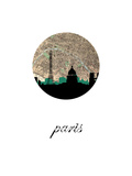 Paris Map Skyline Posters