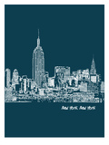 Skyline New York City 3 Posters by Brooke Witt
