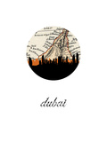 Dubai Map Skyline Print