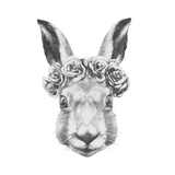 Original Drawing of Rabbit. Isolated on White Background Posters by  victoria_novak