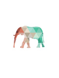 Mint Coral Elephant Poster by Melinda Wood