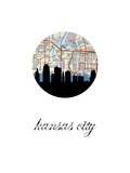 Kansas City Map Skyline Print