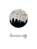 Kansas City Map Skyline Print