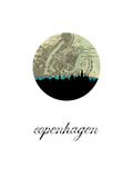 Copenhagen Map Skyline Prints
