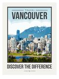 Travel Poster Vancouver Poster af Brooke Witt
