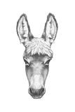 Portrait of Donkey. Hand Drawn Illustration. Kunst af  victoria_novak