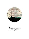 Lexington Map Skyline Print