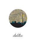 Dublin Map Skyline Prints