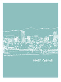 Skyline Denver 5 Posters by Brooke Witt