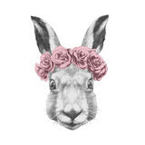 Original Drawing of Rabbit. Isolated on White Background Prints by  victoria_novak