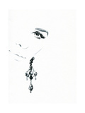 Woman Face. Jewelry and Beauty. Fashion Illustration Posters by Anna Ismagilova