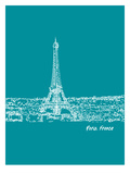 Skyline Paris 4 Posters by Brooke Witt