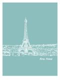 Skyline Paris 5 Posters by Brooke Witt