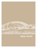 Skyline Sydney 7 Posters by Brooke Witt