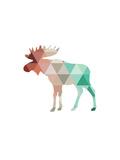 Mint Coral Moose Poster af Melinda Wood