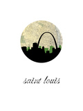 Saint Louis Map Skyline Prints