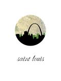 Saint Louis Map Skyline Prints