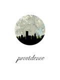 Providence Map Skyline Poster