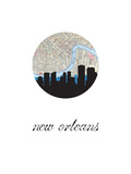New Orleans Map Skyline Prints