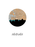 Victoria Map Skyline Prints