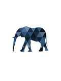 Navy Elephant Prints by Melinda Wood