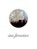 San Fran Map Skyline Poster