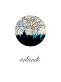 Orlando Map Skyline Art